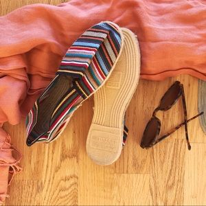 Shoes - Striped French espadrille flats size 6/6.5 NWOT